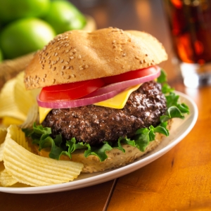 Black Angus Burger Photo
