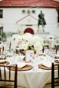 White Linen Table Setting